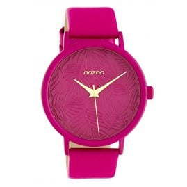 Oozoo C10167 Women's Watch with Leather Strap Pink 42 mm