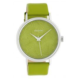 Oozoo C10168 Damen-Armbanduhr Lederband Grün 42 mm