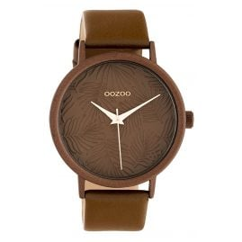 Oozoo C10171 Ladies' Watch with Leather Strap Brown 42 mm