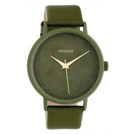 Oozoo C10173 Damenuhr Lederband Grün 42 mm