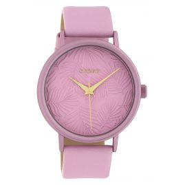 Oozoo C10174 Damen-Armbanduhr Lederband Rosa 42 mm