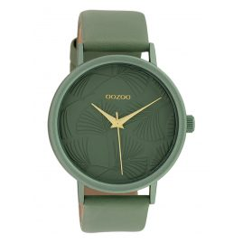 Oozoo C10392 Damen-Armbanduhr mit Lederband 42 mm Aquamarin