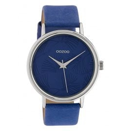 Oozoo C10394 Women's Watch with Leather Strap 42 mm Dark Blue