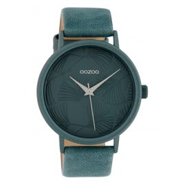 Oozoo C10397 Damenuhr mit Lederband 42 mm Blau