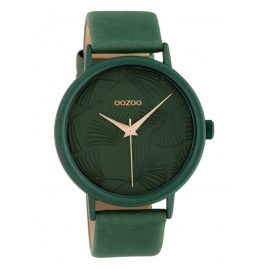 Oozoo C10398 Women's Watch with Leather Strap 42 mm Green
