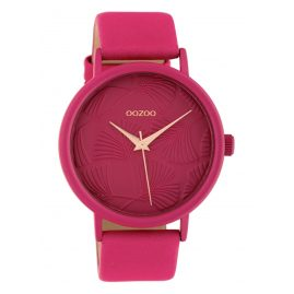 Oozoo C10399 Ladies' Watch with Leather Strap 42 mm Fuchsia