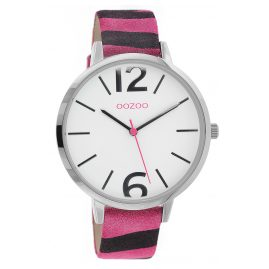 Oozoo C10205 Ladies' Watch Zebra Pink 43 mm