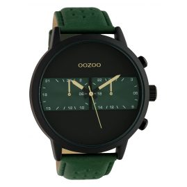 Oozoo C10300 Men's Watch with Leather Strap Ø 50 mm Green / Black