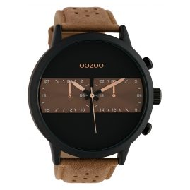 Oozoo C10302 Men's Watch with Leather Strap Ø 50 mm Brown / Black