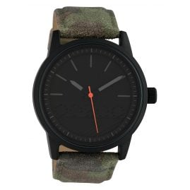 Oozoo C10307 Men's Watch with Leather Strap Ø 45 mm Camouflage / Black