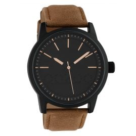 Oozoo C10308 Men's Watch with Leather Strap Ø 45 mm Brown / Black