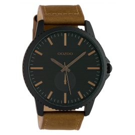 Oozoo C10333 Men's Watch with Leather Strap Ø 50 mm Brown / Black