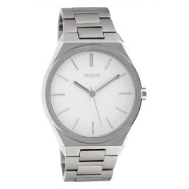 Oozoo C10335 Men's Watch with Steel Bracelet Ø 40 mm Silvery / White