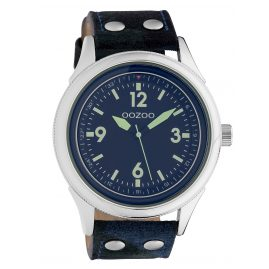 Oozoo C10350 Men's Watch with Leather Strap Ø 48 mm Camouflage / Blue