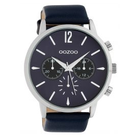 Oozoo C10358 Men's Watch with Leather Strap Ø 48 mm Dark Blue