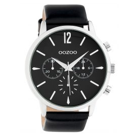 Oozoo C10359 Men's Watch with Leather Strap Ø 48 mm Black