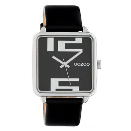 Oozoo C10364 Damenuhr mit Lederband 35 mm Schwarz