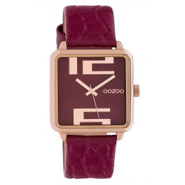 Oozoo C10368 Ladies' Watch with Leather Strap 30 mm Red