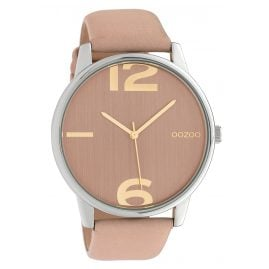 Oozoo C10371 Women's Watch with Leather Strap Ø 45 mm Soft Pink