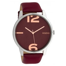 Oozoo C10373 Women's Watch with Leather Strap Ø 45 mm Burgundy