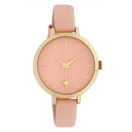 Oozoo C10386 Women's Watch Star with Leather Strap Ø 32 mm Pêche