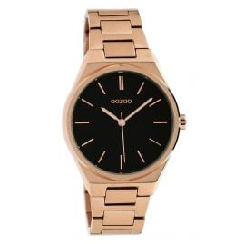 Oozoo C10344 Ladies' Watch Steel Bracelet Rose Gold Tone Ø 34 mm Black