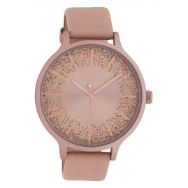 Oozoo C10400 Women's Watch Leather Strap Ø 45 mm Soft Pink / Rose