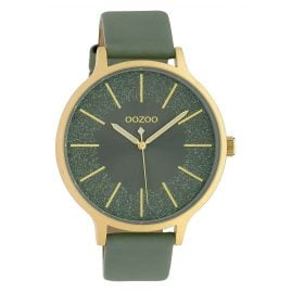 Oozoo C10403 Ladies' Watch Leather Strap Ø 45 mm Light Green