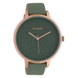 Oozoo C10407 Ladies' Watch Leather Strap Ø 45 mm Light Green