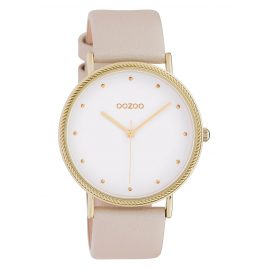 Oozoo C10416 Ladies' Watch Leather Strap Ø 40 mm Beige/White