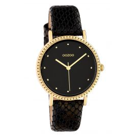 Oozoo C10424 Women's Watch Leather Strap Ø 34 mm Black