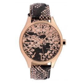 Oozoo C10430 Ladies' Watch Leather Strap Ø 40 mm Python Rosé