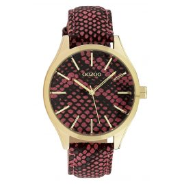 Oozoo C10433 Women's Watch Leather Strap Ø 40 mm Red