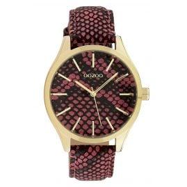 Oozoo C10433 Damen-Armbanduhr Lederband Ø 40 mm Rot