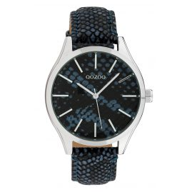 Oozoo C10434 Ladies' Watch Leather Strap Ø 40 mm Blue