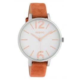 Oozoo C10435 Women's Watch Leather Strap Ø 40 mm Terracotta/White