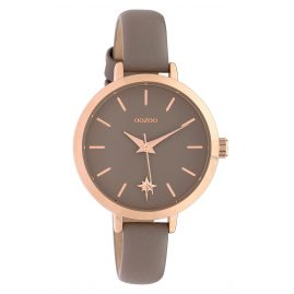 Oozoo C10387 Ladies' Watch Star Leather Strap Ø 32 mm Taupe