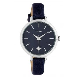 Oozoo C10388 Women's Watch Star Leather Strap Ø 32 mm Night Blue