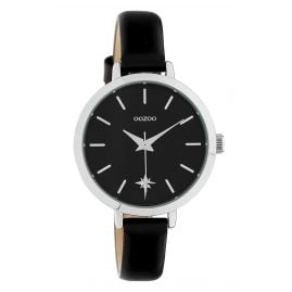 Oozoo C10389 Ladies' Watch Star Leather Strap Ø 32 mm Black