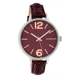 Oozoo C10457 Women's Watch Leather Strap Ø 38 mm Wine Red