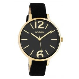 Oozoo C10439 Women's Wristwatch Leather Strap Ø 40 mm Black