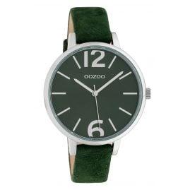Oozoo C10436 Damen-Armbanduhr Lederband Ø 40 mm Dunkelgrün