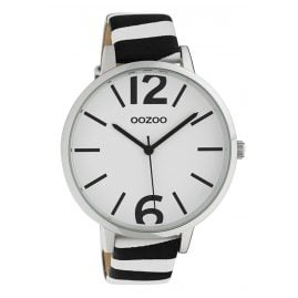 Oozoo C10215 Women's Watch Zebra Black/White Ø 43 mm