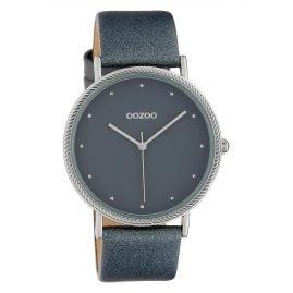Oozoo C10418 Damen-Armbanduhr Lederband Ø 40 mm Grau