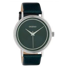 Oozoo C10427 Damenuhr Lederband Ø 42 mm Dunkelgrün