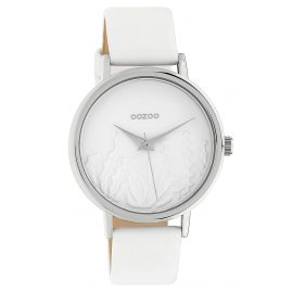 Oozoo C10600 Women's Watch with Leather Strap White Summer Vibes Ø 36 mm