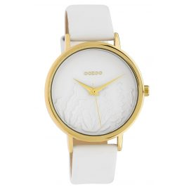 Oozoo C10601 Women's Watch with Leather Strap White Summer Vibes Ø 36 mm