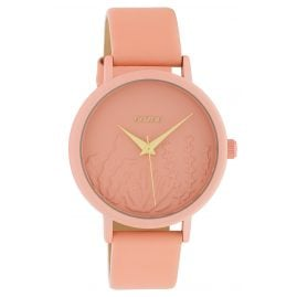 Oozoo C10604 Ladies' Watch with Leather Strap Soft Pink Summer Vibes Ø 36 mm