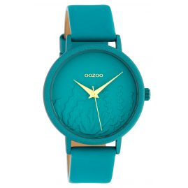 Oozoo C10606 Ladies' Watch with Leather Strap Turquoise Summer Vibes Ø 36 mm