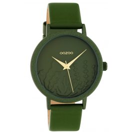 Oozoo C10608 Ladies' Watch with Leather Strap Green Summer Vibes Ø 36 mm